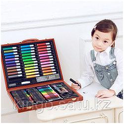 Набор для рисования в деревянном чемоданчике, 150 предметов