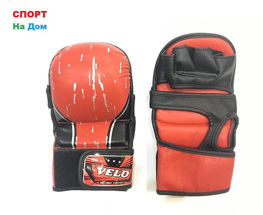 Перчатки для рукопашного боя Velo (черепашки)Размер L  (цвет красный), фото 2