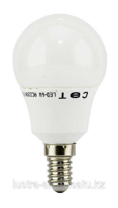 Лампа Шар Матовый 6вт 4200K E14 SAT