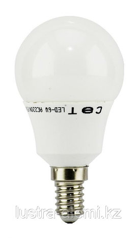 Лампа Шар Матовый 6вт 4200K E14 SAT, фото 2