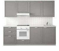 Кухня МЕТОД БУДБИН серый 240x60x228 см ИКЕА, IKEA, фото 1