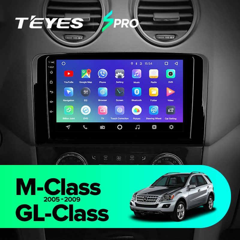 Автомагнитола Mercedes M/GL-Glass Spro Teyes Android