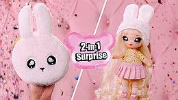 NA! Na! Na! Surprise Aubrey Heart кролик - мягкие куклы с животным-помпоном-сумочкой от MGA