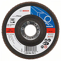 Круг лепестковый S.f Metal. BOSCH прям с/в д.125 К60 арт. 2608603717
