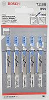 5 Лобзиковых пилок Т118 B, HSS BOSCH арт. 2608631014