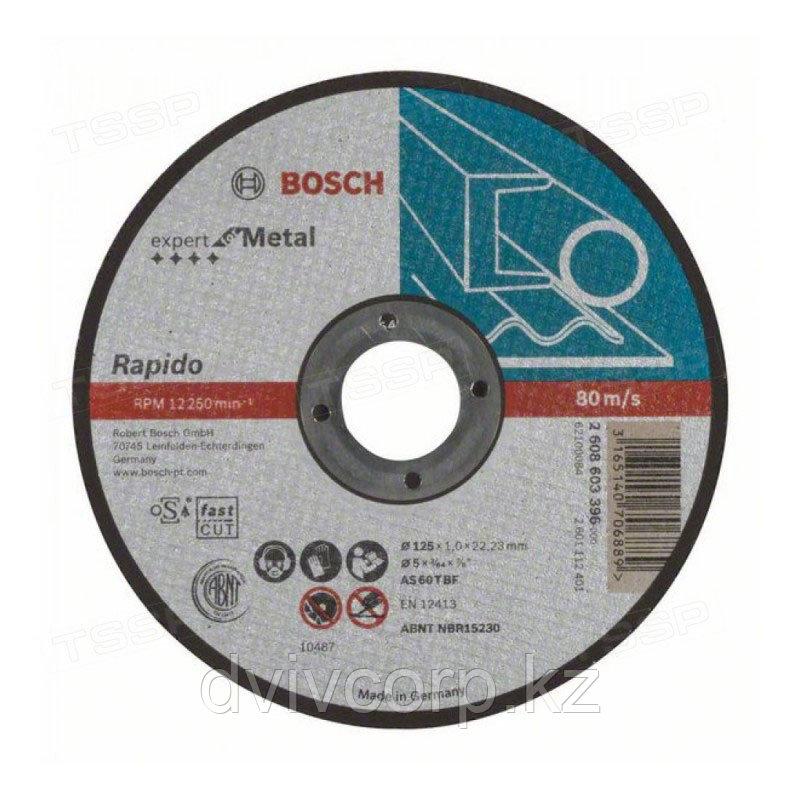 Круг отрезной 125х1,0 мм Expert по металлу прямой BOSCH арт. 2608603396