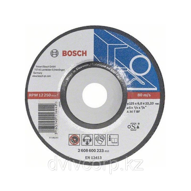 Круг шлифовальный по металлу 125х6 BOSCH арт. 2608600223