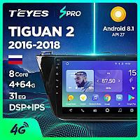 Автомагнитола Volkswagen Tiguan Teyes Spro Android