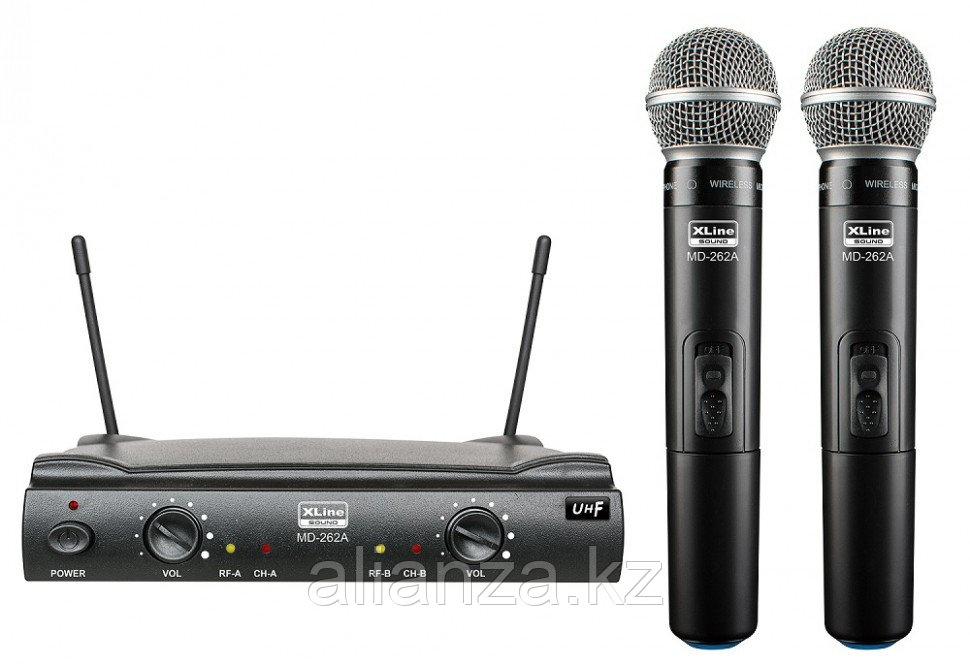 Радиосистема на два микрофона Xline MD-262A-B