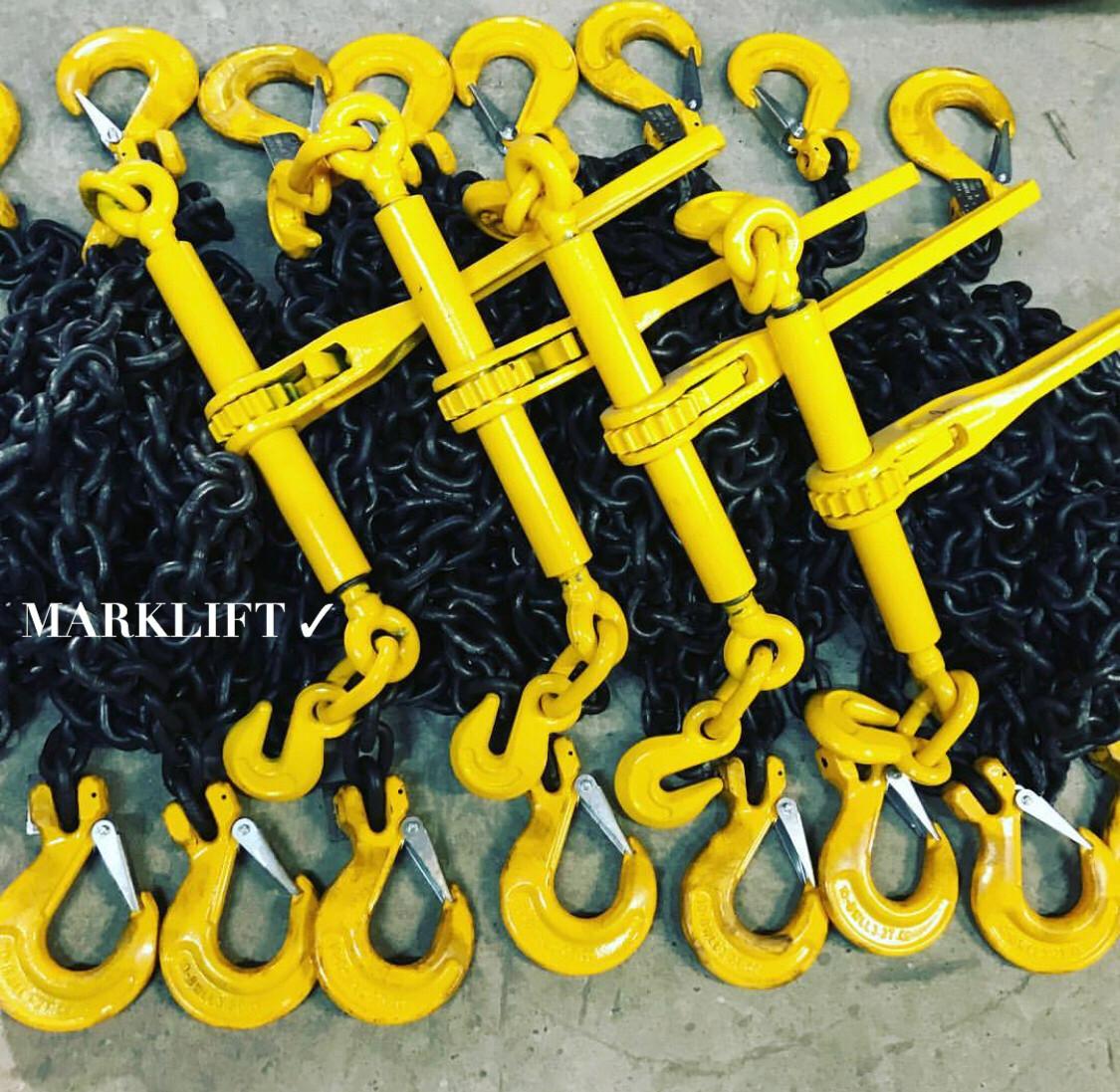 Цепные стяжные ремни в Атырау, размер цепь 10мм х 30мм, длина 10м. Рабочая нагрузка 6300кг, разрывная 12600кг - фото 4