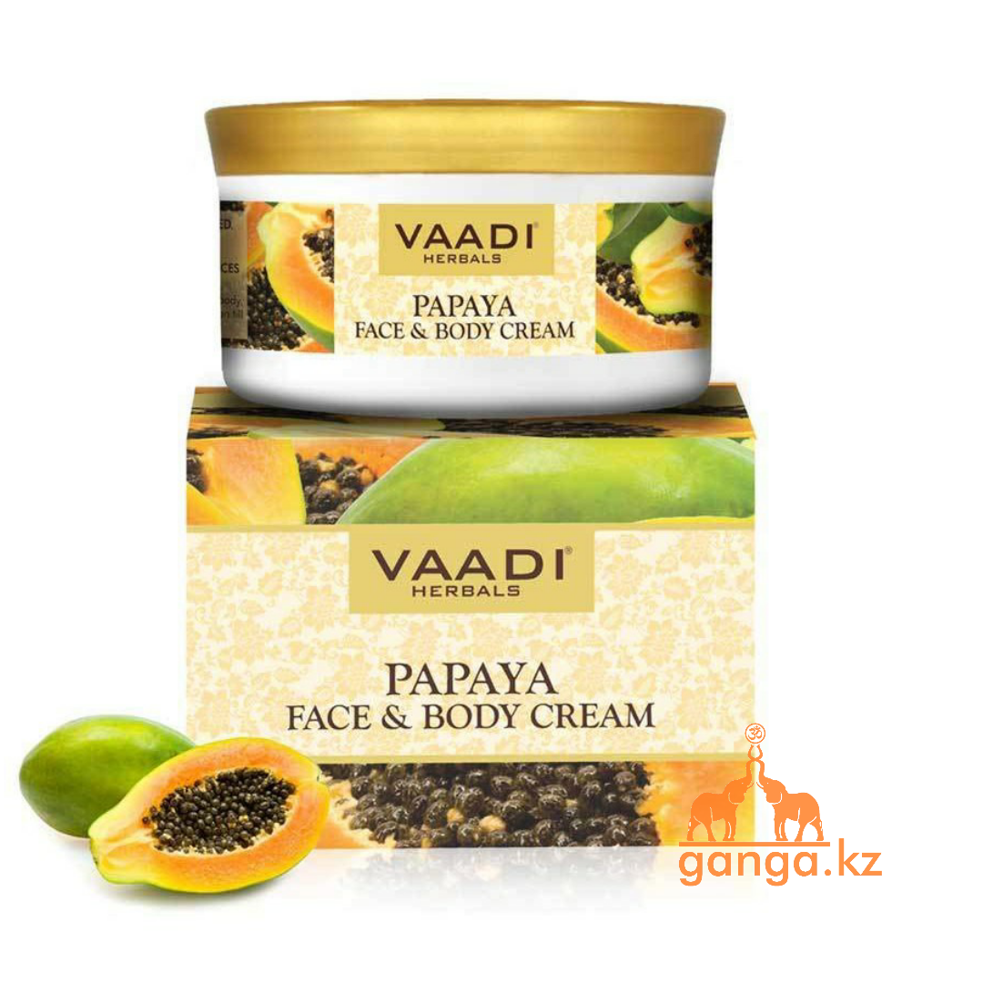 Крем Ваади для лица и тела с папайей (Papaya Face & Body Cream VAADI Herbals),150 гр