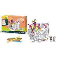 CubicFun Пазл-раскраска, десертный домик, 5 фломастеров в комплекте.