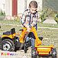 Трактор педальный строительный с 2-мя ковшами и прицепами Smoby, фото 5