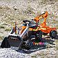 Трактор педальный строительный с 2-мя ковшами и прицепами Smoby, фото 3