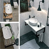 Столешница с раковиной GRUNGE LOFT 100 см. (1 ящик). Серый бетон., фото 5