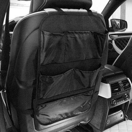 Органайзер-защита спинки сиденья автомобиля [6 карманов] (Черный), фото 2