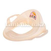 Накладка детская для унитаза с ручками детская сидушка на унитаз молочного цвета (11107)