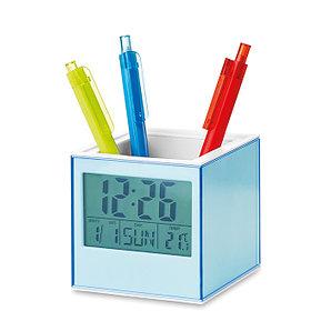 Кубическая подставка для ручек с часами