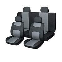 Чехлы сиденья кожа иск. 11 предм. Skyway DRIVE черный, серый