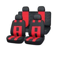 Чехлы сиденья полиэстер 11 предм. Skyway DRIVE черный, красный