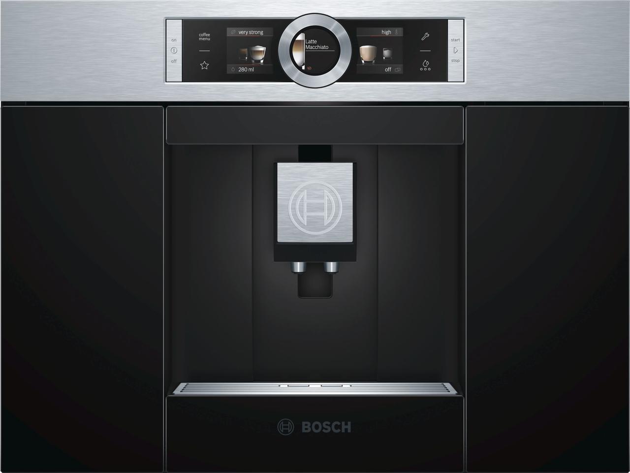 Встраиваемая автоматическая кофемашина Bosch  Нержавеющая сталь CTL636ES1