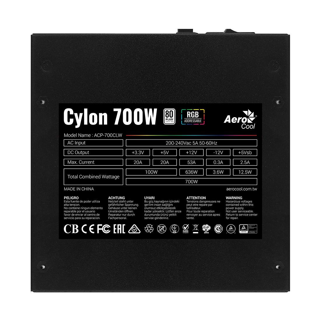 Блок питания Aerocool Cylon 700W