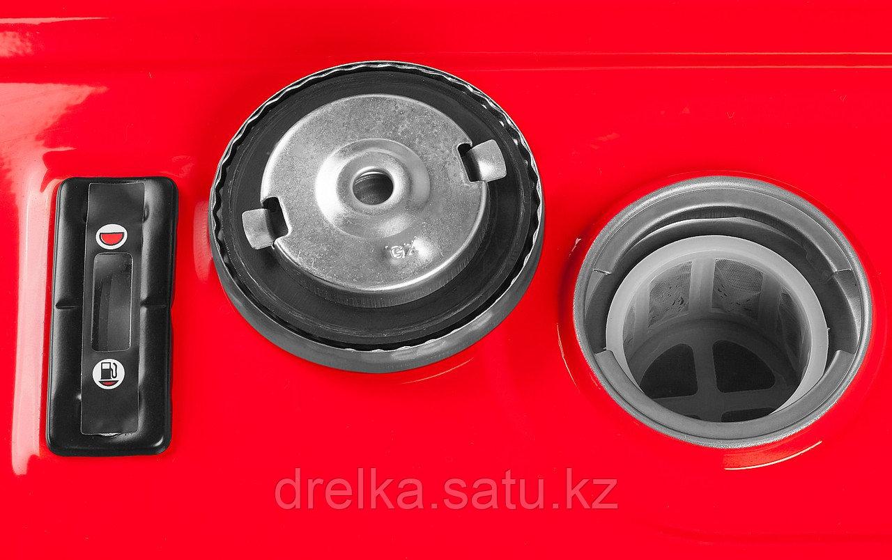 Бензиновый электрогенератор ЗУБР ЗЭСБ-4500, двигатель 4-х тактный, ручной пуск, 4500/4000Вт, 220/12В - фото 9