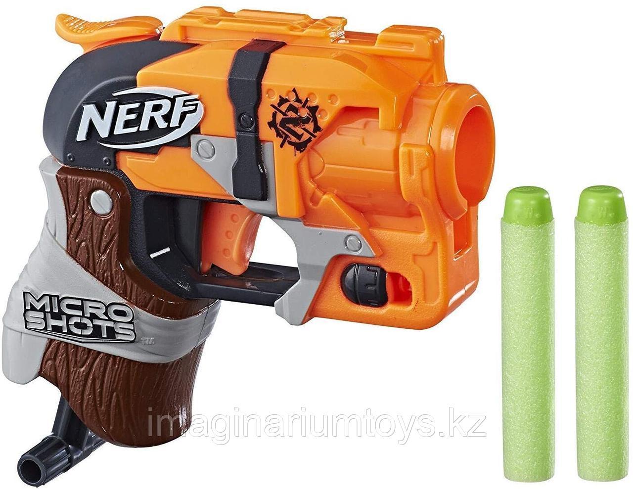 Бластер Нерф Зомби Микрошот NERF Zombie Hammershot Microshot