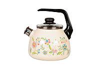 Чайник со свистком 3л Луговые цветы, 4с209я