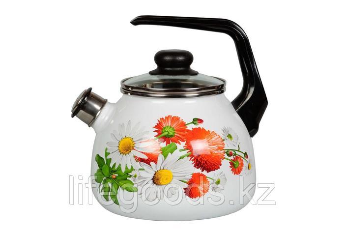 Чайник 3л Маргаритки, 4с209я, фото 2