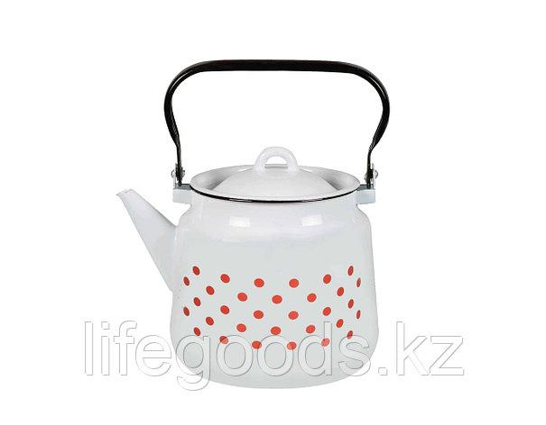 Чайник 3.5л Красный горох, 1с26с, фото 2