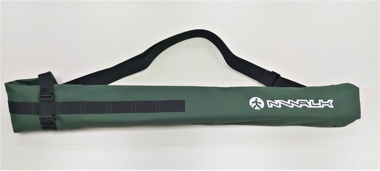 Чехол - трансформер NWALK (зеленого цвета) для скандинавских палок до 90 см