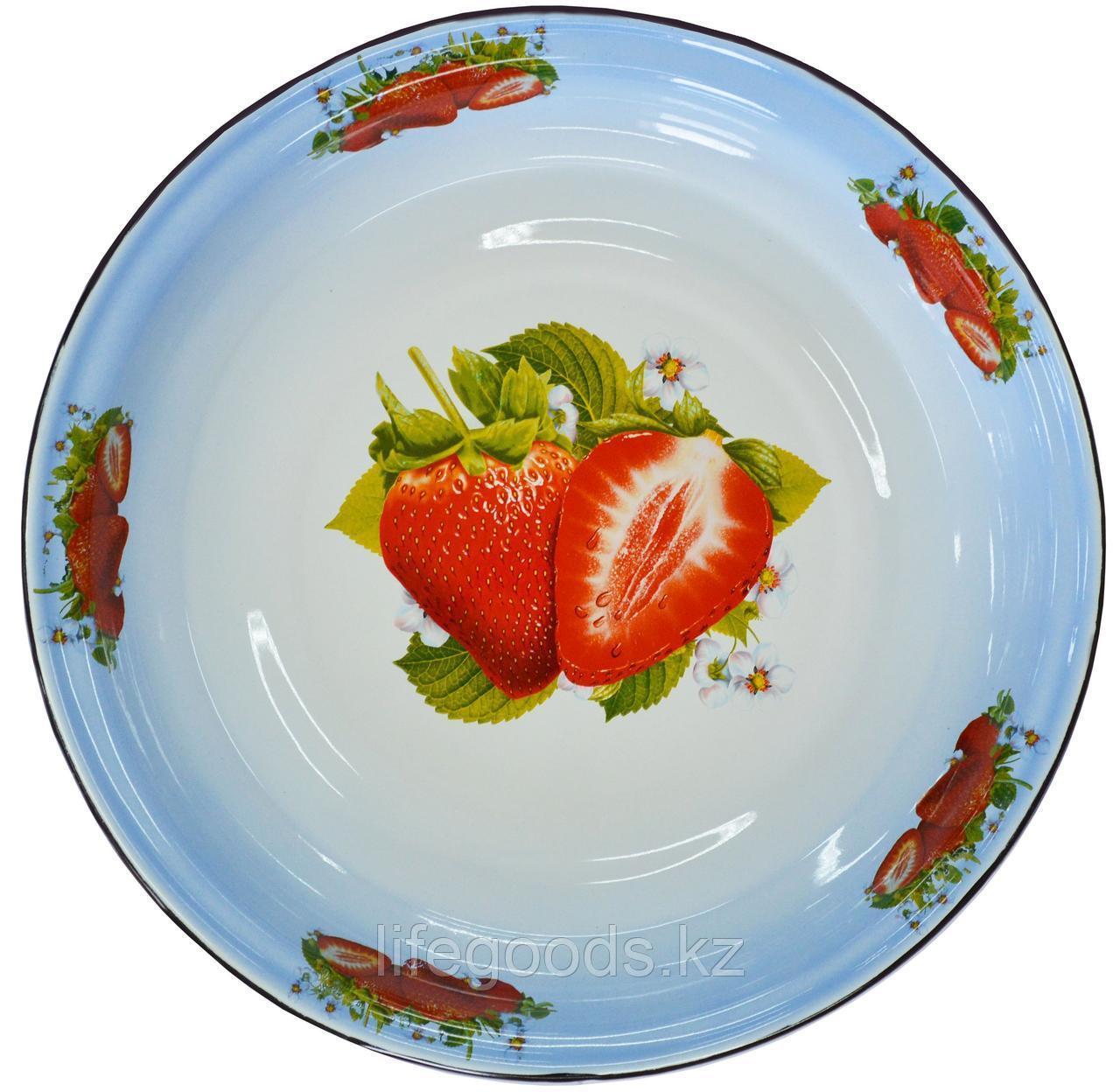 Блюдо 4,5л, белосн. с подп., Клубника садовая, 1с11я/БД