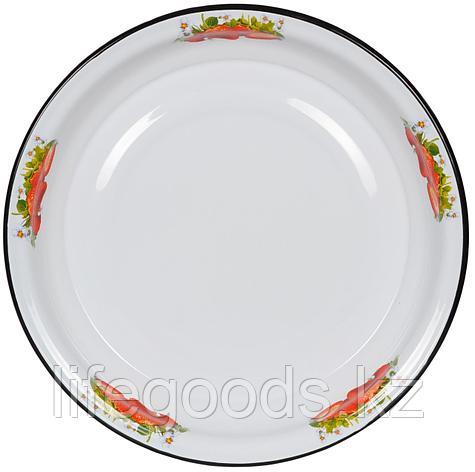 Блюдо 4,5л, белосн., Клубника садовая, 1с11с/Б, фото 2