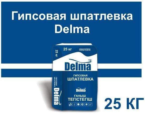 Гипсовая шпатлевка Delma 25кг, фото 2