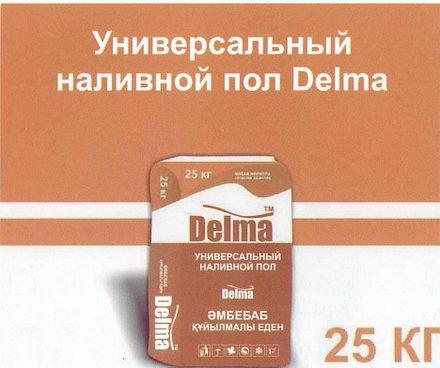Универсальный гипсово-цементный наливной пол Delma 25кг, фото 2