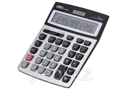 """Калькулятор настольный DELI """"39265"""" 16 разрядный серый"""
