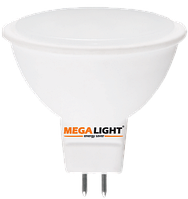 LED ЛАМПА MR16 Spot 7W 630Lm 230V 6500K GU5.3 MEGALIGHT (10/100)