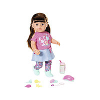 Baby Born кукла сестричка Бэби Борн 43 см интерактивная брюнетка, фото 1