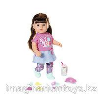Baby Born кукла сестричка Бэби Борн 43 см интерактивная брюнетка