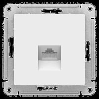 S390 Комп. роз. RJ45 5Е механизм б/рамки ATLAS белый ATN183 NEW (10)