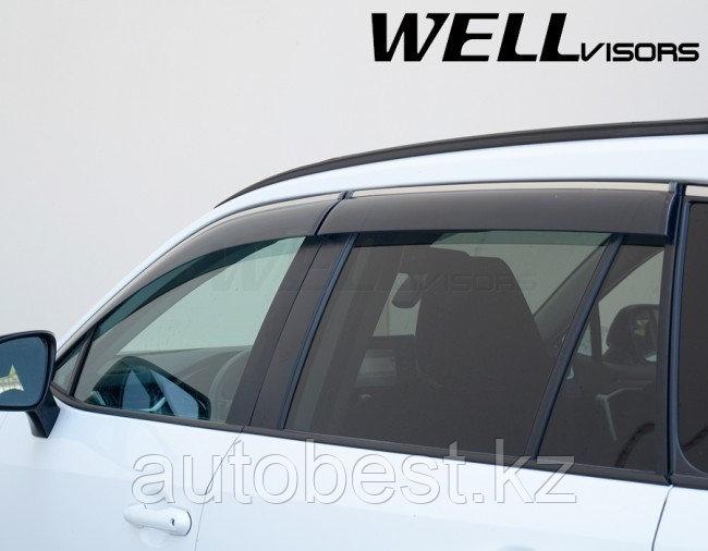 Ветровики на Toyota Rav4 2019 2020 оригинальные, дефлекторы на Тойота рав4.
