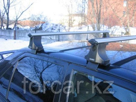 Багажник Atlant для гладкой крыши с креплением за дверной проем, аэродинамические  дуги, опора B, фото 2