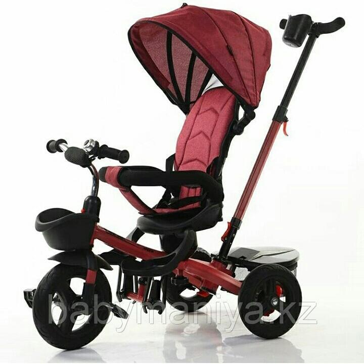 Велосипед детский трехколесный H6199  бордовый