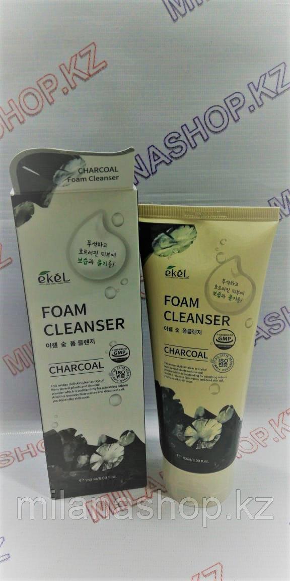 Ekel Charcoal Foam Cleanser - Пенка для умывания с древесным углём