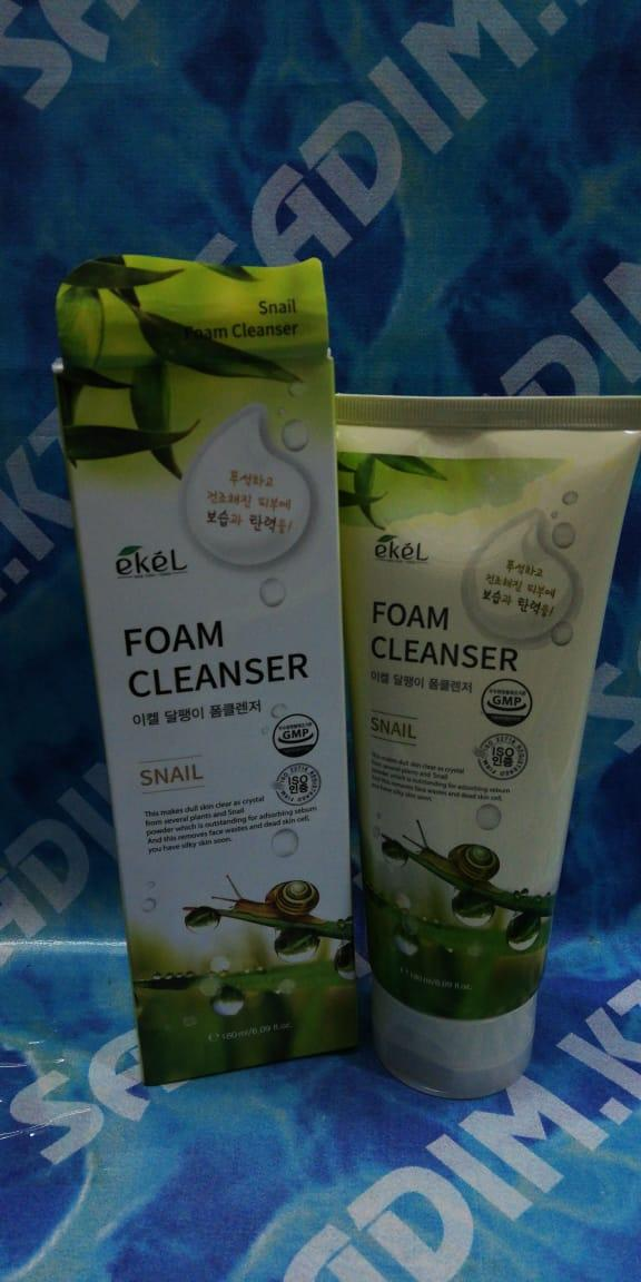 Ekel Snail Foam Cleanser - Пенка для умывания с экстрактом слизи улитки