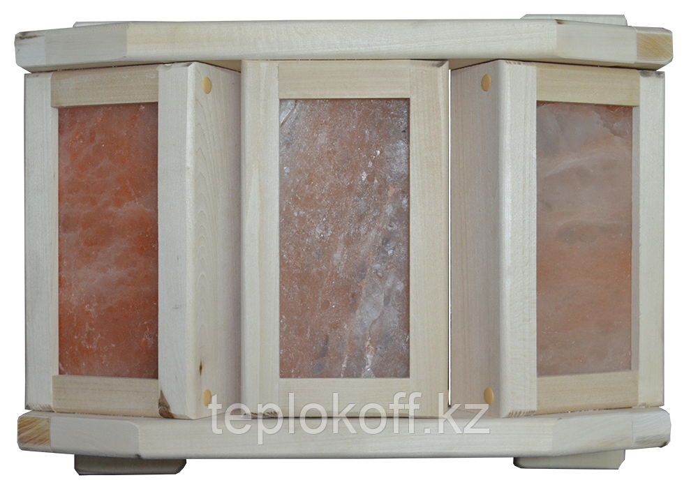 Абажур угловой полукруглый с гималайской солью Банный Эксперт