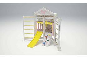 Игровой комплекс-кровать Савушка Baby-9 (бело-жёлтый)