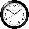 Часы настенные ход плавный, Troyka 11100112, круглые, 29*29*3,5, черная рамка 11100112