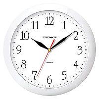 Часы настенные ход плавный, Troyka 11170113, круглые, 29*29*3,5, белая рамка